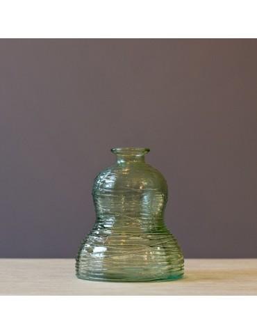 "Perdirbto stiklo Vaza ""Caramelo"" žalia 17 cm"