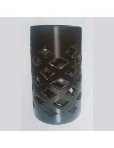 Juoda keramikinė žvakidė 14 x 7 x 7 cm