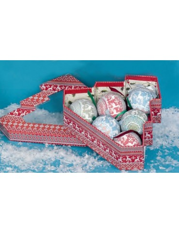 "Kalėdinių žaisliukų rinkinys ""Weihnachtskugeln"" 6 vnt"