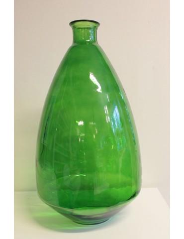 "Perdirbto stiklo vaza ""Adobe"" žalia 60 cm."
