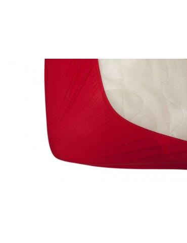 Vilnonė lovatiesė 180x200 cm raudona
