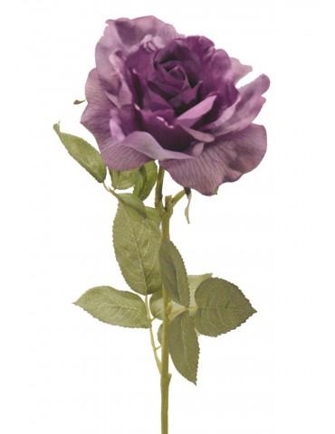 Gėlė violetinė rožė 73 cm.