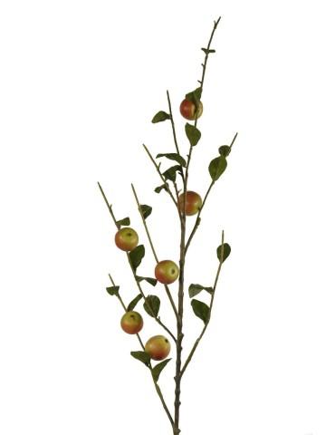 Obels šaka su raudonais obuoliais 117 cm.