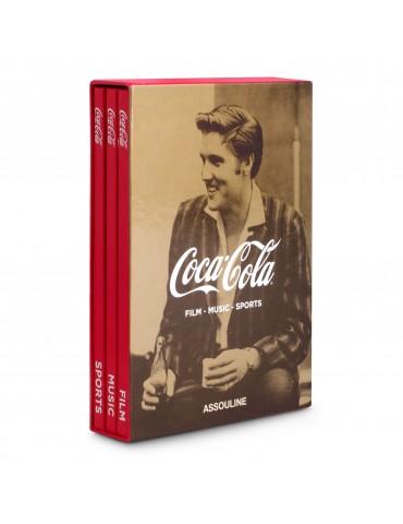 """ASSOULINE 3-jų knygų rinkinys """"Coca-Cola Film-Music-Sports"""""""