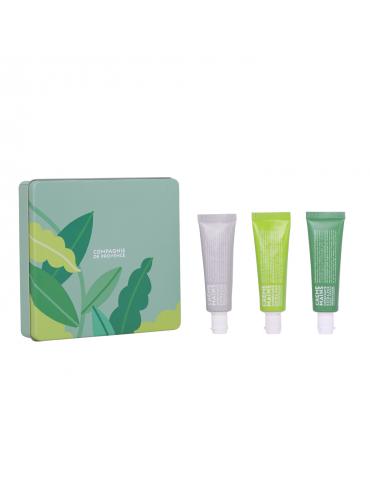 "CDP rinkinys ""Shades of Green"" ( Cotton, Verbena, Rosemary rankų kremai 30 ml)"